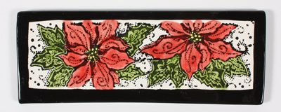 Mayco Stamp sST342PoinsettiaTile