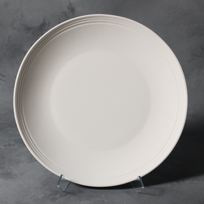 Stoneware Bisque SB105RimmedDinnerPlate